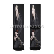 Derek Trucks Custom Sublimation Printed Socks Polyester Acrylic Nylon Spandex with Small Medium Large Size