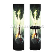 Dragon Age Inquisition Custom Sublimation Printed Socks Polyester Acrylic Nylon Spandex with Small Medium Large Size
