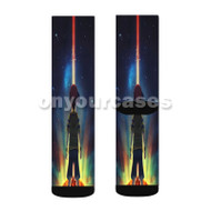 Earth Bound Mother 2 Custom Sublimation Printed Socks Polyester Acrylic Nylon Spandex with Small Medium Large Size