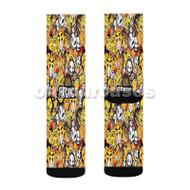 Glogang Custom Sublimation Printed Socks Polyester Acrylic Nylon Spandex with Small Medium Large Size