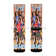 Grumps Wonderland 2 Custom Sublimation Printed Socks Polyester Acrylic Nylon Spandex with Small Medium Large Size