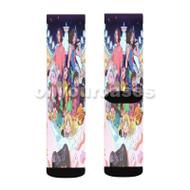 Grumps Wonderland Custom Sublimation Printed Socks Polyester Acrylic Nylon Spandex with Small Medium Large Size