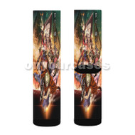 Kabaneri of the Iron Fortress Custom Sublimation Printed Socks Polyester Acrylic Nylon Spandex with Small Medium Large Size