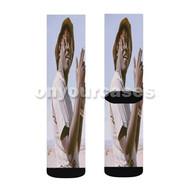 Lil Yachty Custom Sublimation Printed Socks Polyester Acrylic Nylon Spandex with Small Medium Large Size