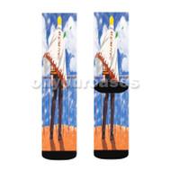 Naruto Hokage Custom Sublimation Printed Socks Polyester Acrylic Nylon Spandex with Small Medium Large Size