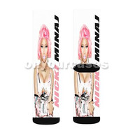 Nicki Minaj Custom Sublimation Printed Socks Polyester Acrylic Nylon Spandex with Small Medium Large Size
