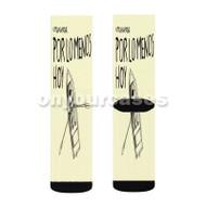 No Te Va Gustar Chau Custom Sublimation Printed Socks Polyester Acrylic Nylon Spandex with Small Medium Large Size