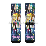 Sailor Moon Custom Sublimation Printed Socks Polyester Acrylic Nylon Spandex with Small Medium Large Size