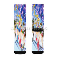 Sailor Moon Scouts Custom Sublimation Printed Socks Polyester Acrylic Nylon Spandex with Small Medium Large Size
