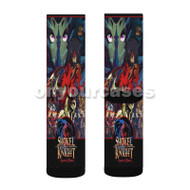Shovel Knight Specter of Torment Custom Sublimation Printed Socks Polyester Acrylic Nylon Spandex with Small Medium Large Size