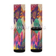 Tame Impala Custom Sublimation Printed Socks Polyester Acrylic Nylon Spandex with Small Medium Large Size