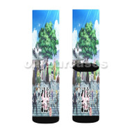 Touken Ranbu Hanamaru Custom Sublimation Printed Socks Polyester Acrylic Nylon Spandex with Small Medium Large Size