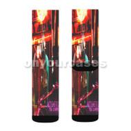ACT GHETTO Tyga Feat Lil Wayne Custom Sublimation Printed Socks Polyester Acrylic Nylon Spandex with Small Medium Large Size