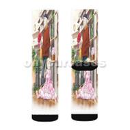 Alice Zouroku Custom Sublimation Printed Socks Polyester Acrylic Nylon Spandex with Small Medium Large Size