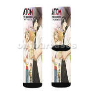 Atom The Beginning Custom Sublimation Printed Socks Polyester Acrylic Nylon Spandex with Small Medium Large Size