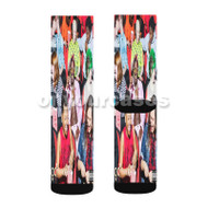 Bring It Back Lil Yachty Custom Sublimation Printed Socks Polyester Acrylic Nylon Spandex with Small Medium Large Size
