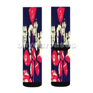 Depeche Mode Custom Sublimation Printed Socks Polyester Acrylic Nylon Spandex with Small Medium Large Size