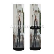 Father John Misty Custom Sublimation Printed Socks Polyester Acrylic Nylon Spandex with Small Medium Large Size