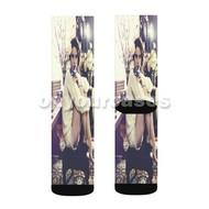 Lana Del Rey Custom Sublimation Printed Socks Polyester Acrylic Nylon Spandex with Small Medium Large Size