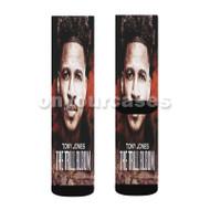 Rent s Due Tony Jones Custom Sublimation Printed Socks Polyester Acrylic Nylon Spandex with Small Medium Large Size