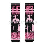 Velvet Underground Custom Sublimation Printed Socks Polyester Acrylic Nylon Spandex with Small Medium Large Size