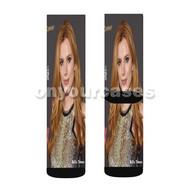 Bella Thorne 2 Custom Sublimation Printed Socks Polyester Acrylic Nylon Spandex with Small Medium Large Size