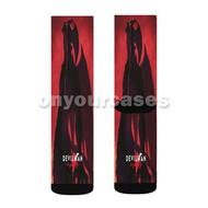 Devilman Crybaby Custom Sublimation Printed Socks Polyester Acrylic Nylon Spandex with Small Medium Large Size