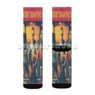 Logic Bobby Tarantino II Custom Sublimation Printed Socks Polyester Acrylic Nylon Spandex with Small Medium Large Size