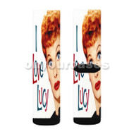 lucille ball show Custom Sublimation Printed Socks Polyester Acrylic Nylon Spandex with Small Medium Large Size