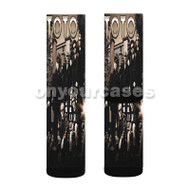 TOTO ROCK BAND Custom Sublimation Printed Socks Polyester Acrylic Nylon Spandex with Small Medium Large Size