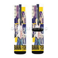 Banana Fish Custom Sublimation Printed Socks Polyester Acrylic Nylon Spandex with Small Medium Large Size