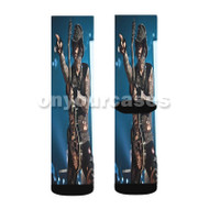 DJ Ashba Custom Sublimation Printed Socks Polyester Acrylic Nylon Spandex with Small Medium Large Size