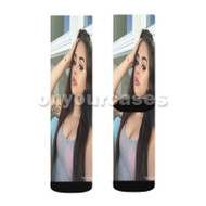 Maggie Lindemann Custom Sublimation Printed Socks Polyester Acrylic Nylon Spandex with Small Medium Large Size