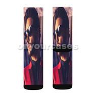 Maluma Custom Sublimation Printed Socks Polyester Acrylic Nylon Spandex with Small Medium Large Size