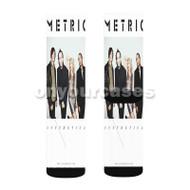 MEtric Band Custom Sublimation Printed Socks Polyester Acrylic Nylon Spandex with Small Medium Large Size