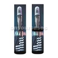 Nicky Jam Custom Sublimation Printed Socks Polyester Acrylic Nylon Spandex with Small Medium Large Size