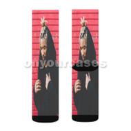 SAYMYNAME Custom Sublimation Printed Socks Polyester Acrylic Nylon Spandex with Small Medium Large Size