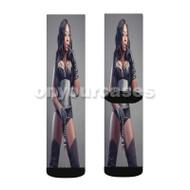 Spice Custom Sublimation Printed Socks Polyester Acrylic Nylon Spandex with Small Medium Large Size