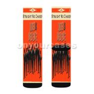 Straight No Chaser Custom Sublimation Printed Socks Polyester Acrylic Nylon Spandex with Small Medium Large Size