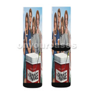 The Package Custom Sublimation Printed Socks Polyester Acrylic Nylon Spandex with Small Medium Large Size