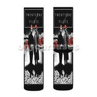 Twenty One Pilots Custom Sublimation Printed Socks Polyester Acrylic Nylon Spandex with Small Medium Large Size