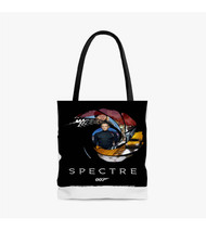 007 Spectre James Bond Custom Personalized Tote Bag Polyester with Small Medium Large Size