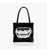 007 Spectre James Bond Skull Mask Custom Personalized Tote Bag Polyester with Small Medium Large Size