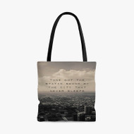 5 Seconds of Summer Disconnected Lyrics Custom Personalized Tote Bag Polyester with Small Medium Large Size