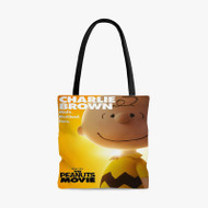 Charlie Brown The Peanuts Movie Custom Personalized Tote Bag Polyester with Small Medium Large Size