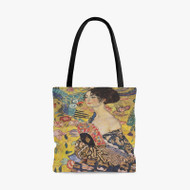 Gustav Klimt Lady With Fan Custom Personalized Tote Bag Polyester with Small Medium Large Size