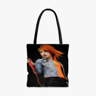 Hayley Williams Paramore Custom Personalized Tote Bag Polyester with Small Medium Large Size