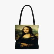 Leonardo da Vinci Mona Lisa Painting Custom Personalized Tote Bag Polyester with Small Medium Large Size