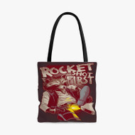 Rocket Raccoon Guardians of The Galaxy Custom Personalized Tote Bag Polyester with Small Medium Large Size