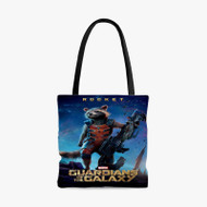Rocket Racoon Guardians Of The Galaxy Custom Personalized Tote Bag Polyester with Small Medium Large Size